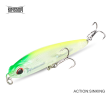 Kingdom Fishing Lures Slow Sinking Pencil Lure 70mm 8g, 40mm 4g Artificial Baits RockFishing Hard Bait wobblers Fishing Tackle