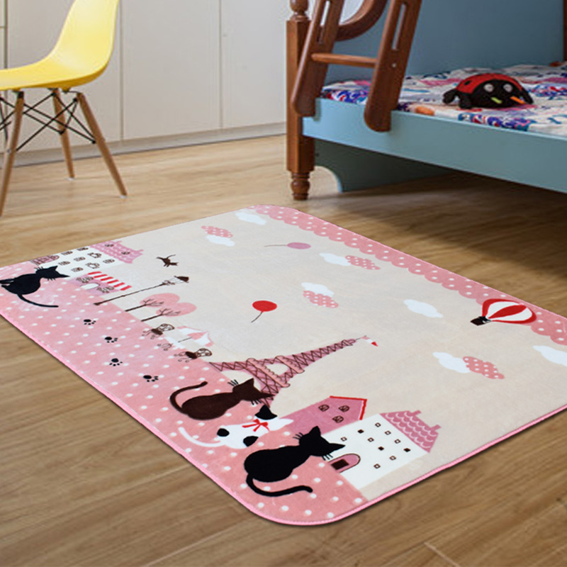 Kids Carpet Rugs Children S Room Non Slip Floor Mat Cartoon Cat Bedroom Rug Living Crawling 130x185cm In From Home Garden On