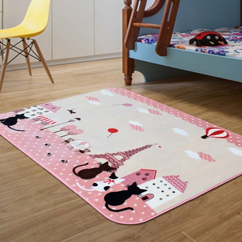 Tapis enfants tapis chambre d'enfants tapis de sol antidérapant dessin animé chat chambre tapis salon tapis rampant 130x185 CM - 2