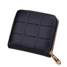 Coin Purses Card Holder short Women Purse Mini Wallet Small Size Purse Plaid Zipper Card bag