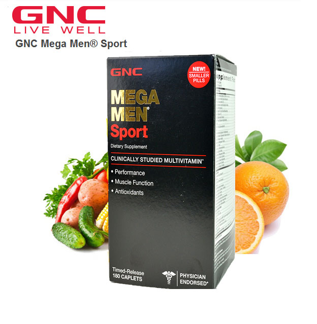 MEGA MEN Sport 180 caplets Free shipping gnc women s ultra mega active without iron 90 caplets free shipping u s a original imported