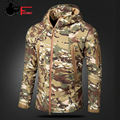 CAMOUFLAGE JACKET MEN 2016 Army Military Style Tactical Soft Shell Warm Fleece Waterproof Coat Male CAMO Shark Skin Outdoors