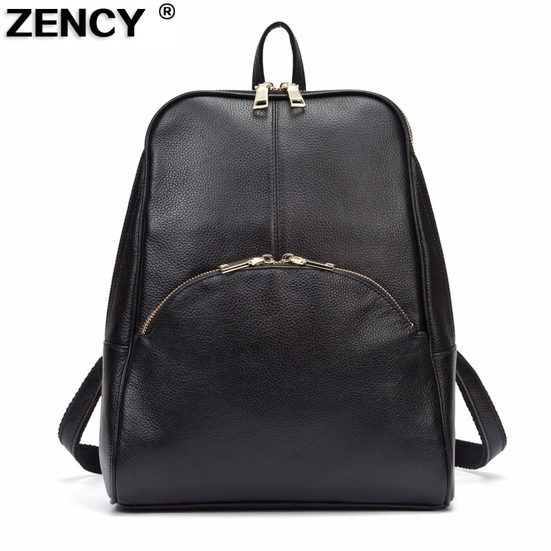 2017 Fashion European Popular 100% Genuine Leather Cowhide Women Daily Cowhide Girls Female Backpacks School Book Bags Designer 2017 fashion european popular 100