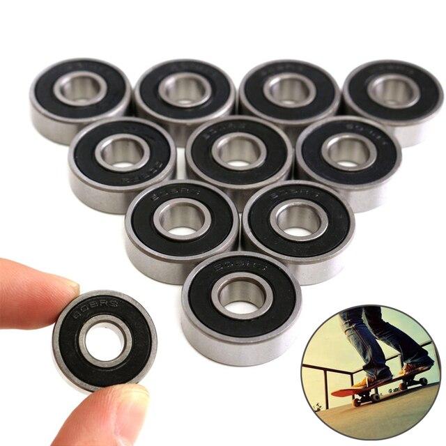 10 pçs/lote 608RS 8*22*7mm ABEC-5 Skate Scooter de Rolamento 608 2RS Kit Rolamentos de Skate Roller Ball rolamento de Esferas em miniatura
