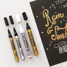 3 pçs branco prata ouro cor marcador caneta conjunto ef fino ponto médio opaco permanente artigos de arte artigos de papelaria material escolar a6863