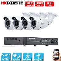 1080N HDMI DVR 2MP 1080P HD Outdoor Home Security Camera System 4CH CCTV Video Surveillance DVR