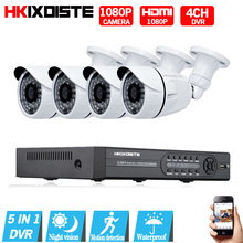 1080N HDMI DVR 2MP 1080P HD Outdoor Home Security Camera System 4CH CCTV Video Surveillance DVR Kit AHD Camera Set nightvision