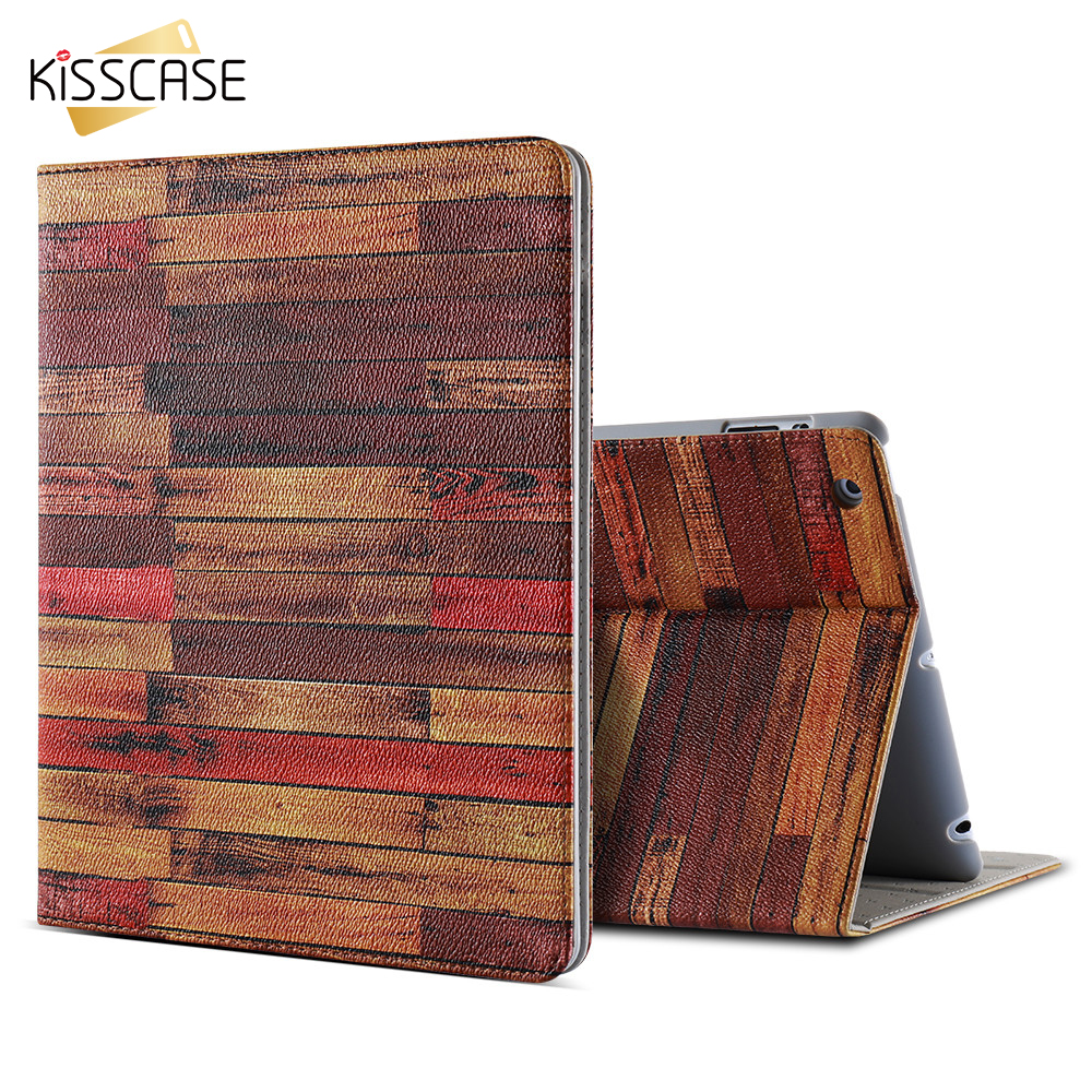 KISSCASE Splice Pattern Cover For iPad 2 3 4 Case Multi Angle Stand Cover Full Protective