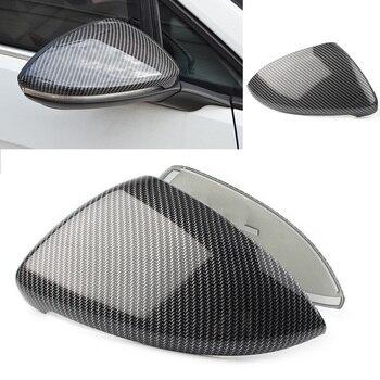 2 pcs צד כנף אחורית מראה כובעי Trim כיסוי עבור פולקסווגן גולף MK7 MK7.5