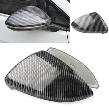 2 pcs Ala Laterale Vista Posteriore Specchio Tappi di Copertura Trim Per Volkswagen Golf MK7 MK7.5