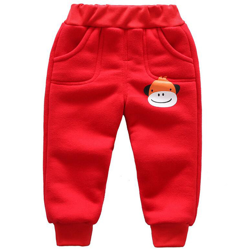 Winter baby warm cotton pants for boys and girls sport pants kids child plus velvet thickening pants children trousers (5)