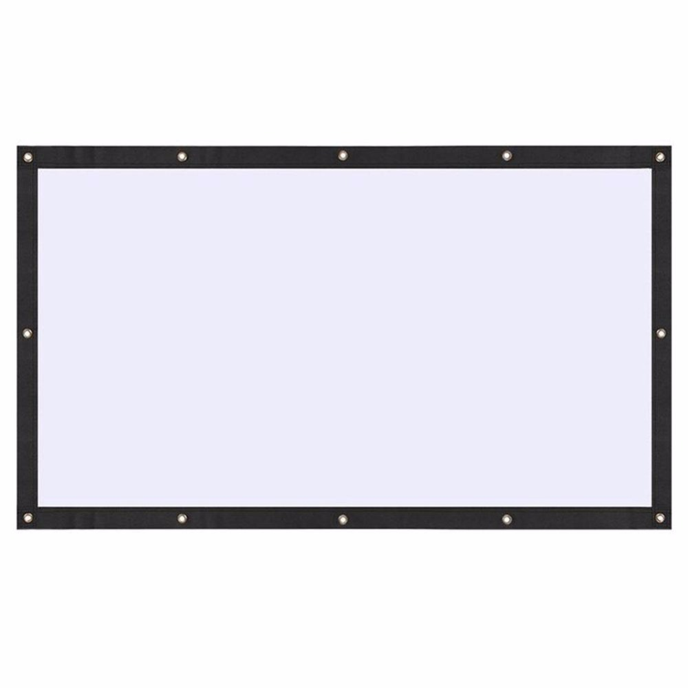 Amzdeal Portable Foldable 16:9 HD Display 84Inchs Projector Screen Fiber Canvas Curtain Home Cinema Outdoor Courtyard