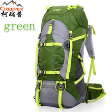 Professional Outdoor Climbing backpack Shoulders Hiking waterproof men and women travel Sport Mountaineering Bag 60L Hot Sale