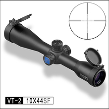 DISCOVERY optical 10X44 SF Hunting Riflescopes Side Parallax Glass Etched Reticle Turrets Reset Fixed Magnification 10X Scope