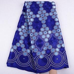 Image 2 - Oignon, dentelle suisse Voile, en suisse, tissu coton, africain, tissu en dentelle de coton sec nigérian, homme, 5Yards, Y1468