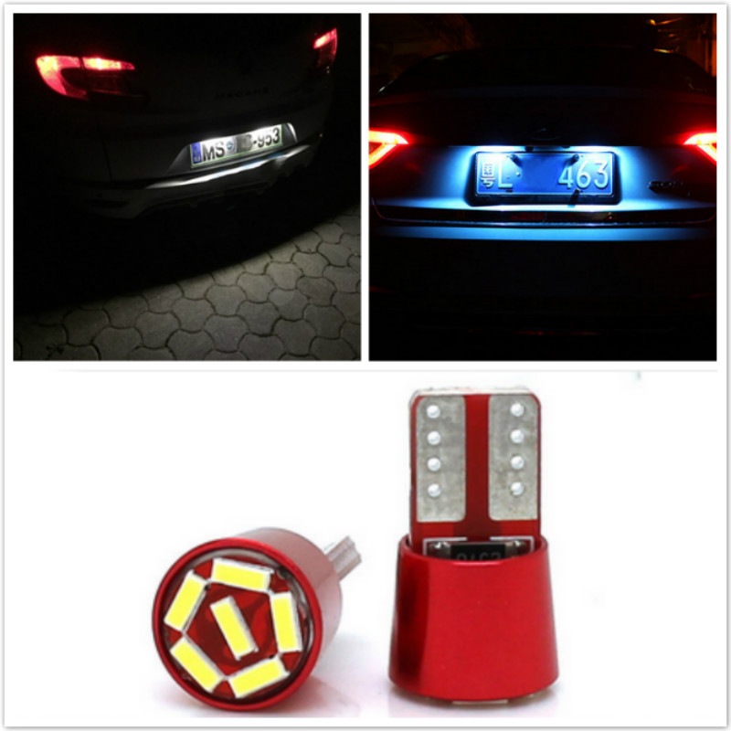 2x Car T10 <font><b>LED</b></font> Door lamp License Plate Lights For <font><b>Peugeot</b></font> 307 308 407 3008 <font><b>208</b></font> 2008 508 408 306 301 106 4008 Accessories image
