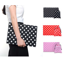 2016 Phenas Fashion Briefcases for men women dots canvas+felt briefcase laptop bag for Macbook air pro retina 13.3″ laptop bag