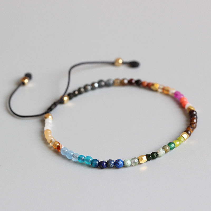 12 Zodiac Signs Lucky Stone Women Jewelry Simple Spring Elastic Bracelet For Man Woman Environmental Bracelet Personality Gift