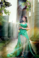 SAILOR MOON Sailor Jupiter Kino Makoto Cosplay Costume High Quality Custom Made Green Dress