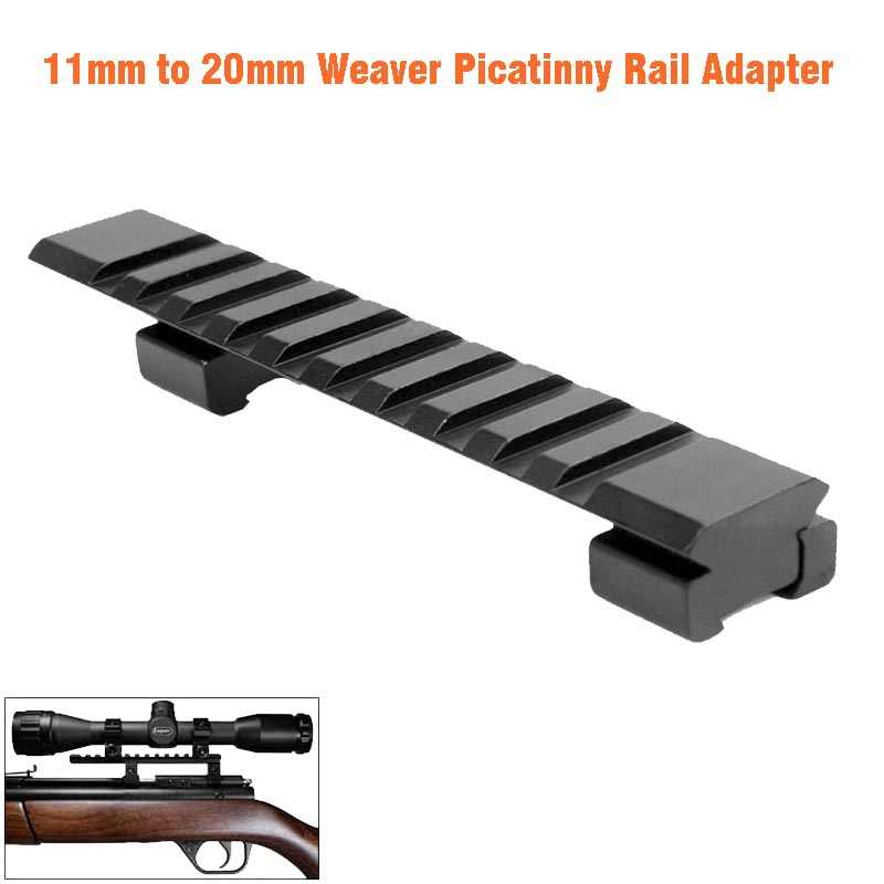 Jacht Zwaluwstaart 11mm tot 20mm Weaver Picatinny Rail Adapter Hunting Rifle/Air Gun weaver VI05033