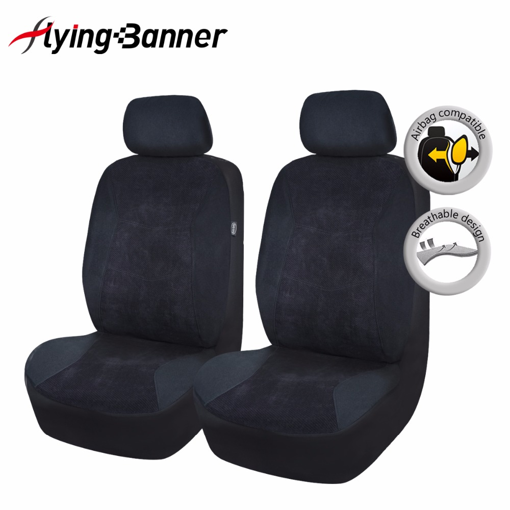 2017 Fashion 2 Front Car Seat Cover Comfortable Corduroy