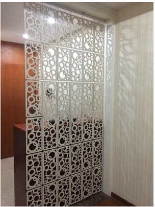 Fashion hanging screen Carved WPC entranceway partition Room dividers Home decoration