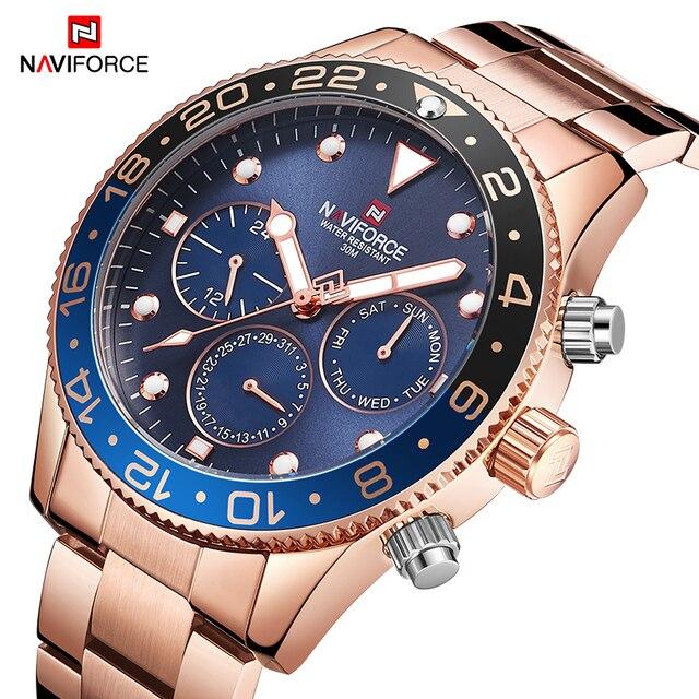 Top Brand Naviforce Mens Fashion Casual Horloge Luxe Quartz Heren Horloge Sport Waterdicht Mannelijke Klok Horloges Relogio Masculino
