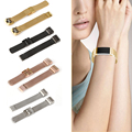 4 cores relógio milanese laço faixa de relógio de aço inoxidável pulseiras para esportes smart watch para fitbit carga 2 l3fe