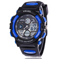 Fashion Dual Time 5ATM Sport Military Backlight  Alarm Digital Wristwatches Wrist Watch Gift for Boy Men Students