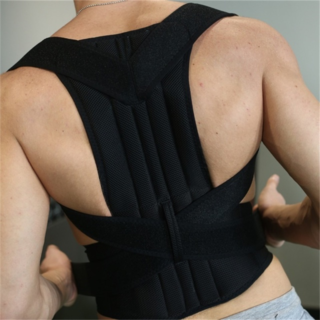 Fully Adjustable Back Support Brace Scoliosis Posture Corrector Waist/Shoulder Band Belt AFT-B003