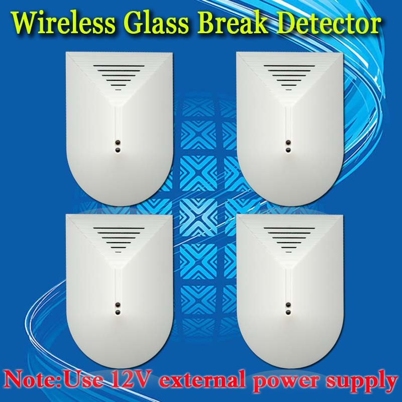 ФОТО Free Shipping!4pcs Wireless 433mhz or 315mhz Glass Break Detector For GSM Phone pstn SMS Alarm System Door Window Glass Security