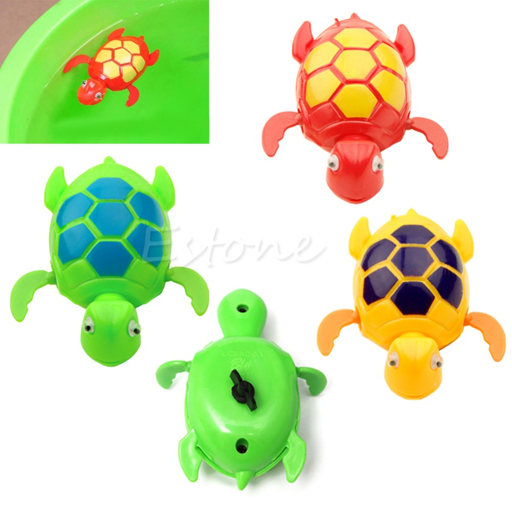 New Kids Baby Child Wind Up Swimming Animal Floating Turtle Pool Bath Time Toy