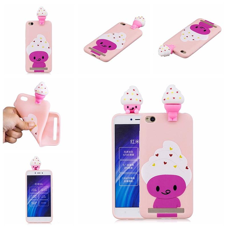 note 5 phone cases KeFo For Xiaomi Redmi 5A Note 5A Phone Cases 3D Squishy Animals Case Silicone Cover for Xiaomi Mi 5X MiA1 Mi5X (5)