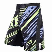 SUOTF MMA black white breathable Fitness Exercise shorts Tiger Muay Thai boxing shorts kickboxing short mma