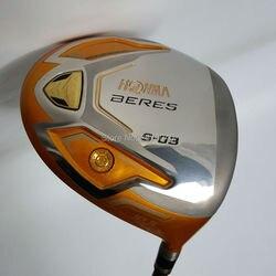 جديد نوادي الغولف HONMA S-03 4 نجوم الذهب اللون أداة لعب الجولف 9.5or10.5 loft الجرافيت رمح R أو S فليكس سائق النوادي شحن مجاني