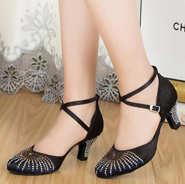 1a43bca2c New Rhinestone Black Closed Toe Salsa Tango Ballroom Dance Shoes Latin Dance  Shoes Salsa Dancing Shoes Bachata Dance Shoes
