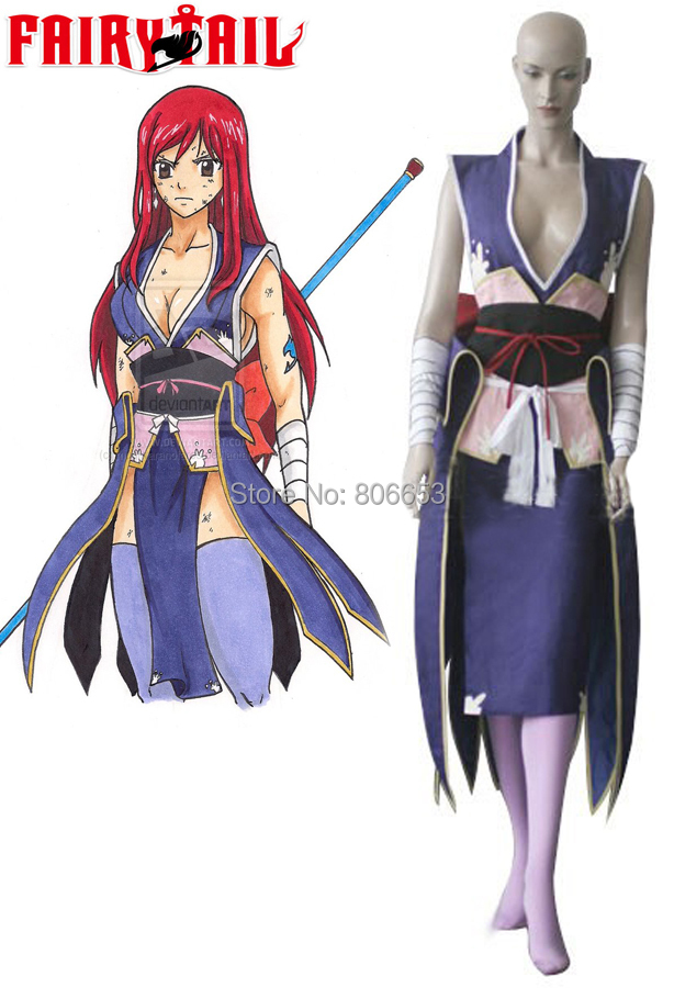 31b5d798c 2015 New Cheap Custom Made Fairy Tail Titania Erza Cosplay Costume For Women  Anime Costume Halloween Costume For Adult