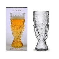 Nouveauté Bière Steins de Cristal Le Football Coupe Du Monde Design Verre de Vin Bière Tasse 300 ml