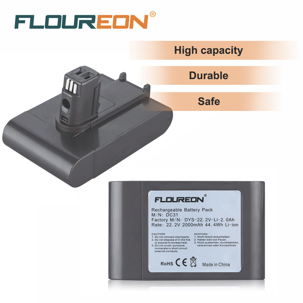 22 2v 2000mah Rechargeable Battery For Dyson Dc31 Dc34