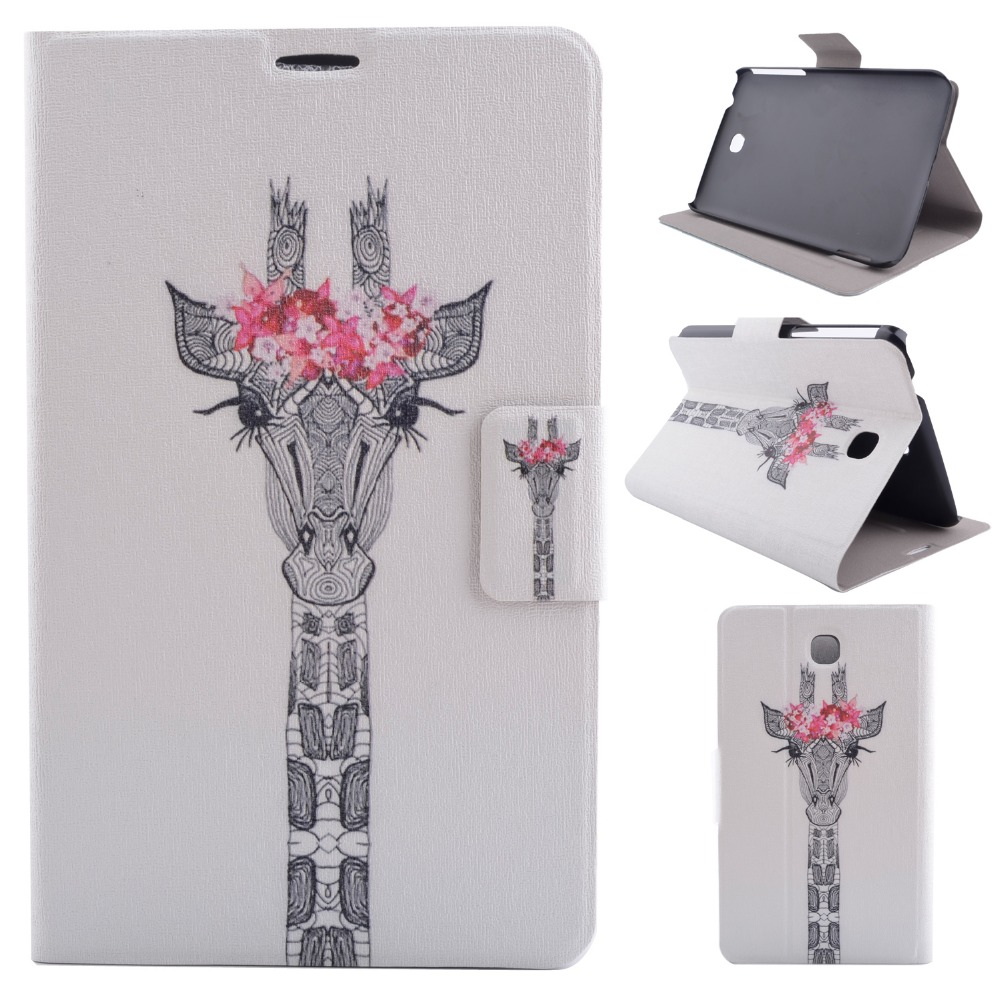 High Quality Print Painting Stand PU Leather Sleeve Cover Protective Case For Samsung Galaxy Tab 3 P3200 P3210 T210 T211 Tablet protective pu leather case w stylus pen for samsung tab 3 7 0 t210 t211 p3200 p3210 orange