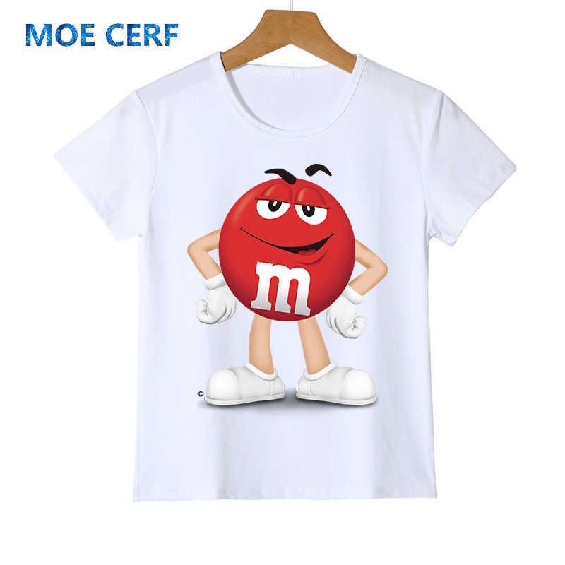 แฟชั่นเด็กเสื้อยืด 3D Boy/สาวช็อคโกแลตถั่วมม.พิมพ์ streetwear ตลก t เสื้อ Anime แขนสั้นเสื้อเด็ก z47-4