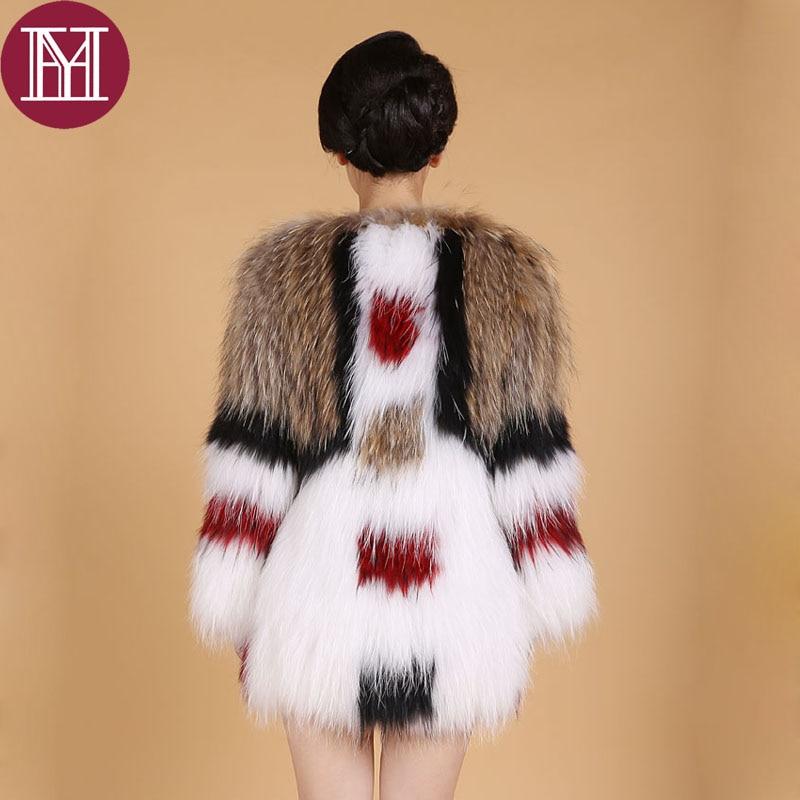 Lady Marque Nouveau Naturel Chaud Photo 2017 Mode Survêtement Color Manteau Raton Réel Fourrure De Arrivent Femmes Veste D'hiver Laveur Kniited vddatzq