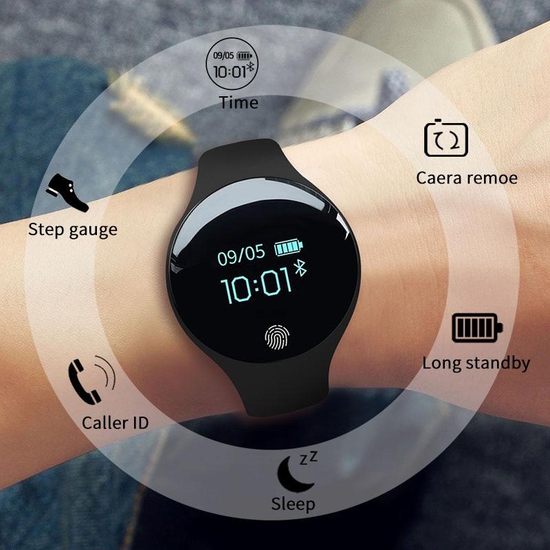 f3173256b82f SANDA reloj inteligente Bluetooth para IOS Android hombres mujeres deporte  inteligente Pedometer Fitness pulsera Relojes digitales para el iPhone en  Relojes ...
