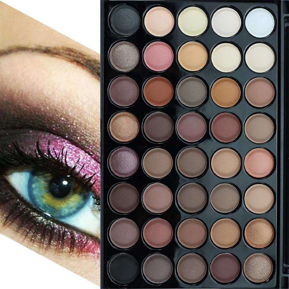40 Color Eyeshadow Palette Silky Powder Professional Make ups