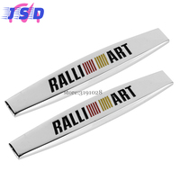 3D Auto Decals Side Fender Stickers Badge Emblem For Mitsubishi Ralliart Logo For Outlander Eclipse EVO