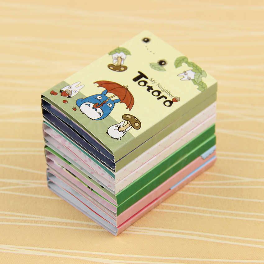 1 PC Kawaii Totoro Melody 6 Bloc de notas adhesivas Bloc de notas marcador regalo papelería