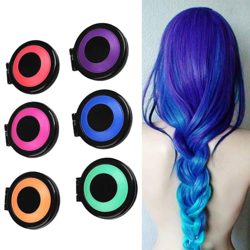 Us 0 79 6 Colors Hair Dye Temporary Hair Chalk Powder Soft Salon Hair Color Diy Chalks For The Hair In Hair Color From Beauty Health On Aliexpress