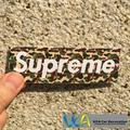 [Green Bape Supreme] Colored Car Styling JDM Fashion Waterproof Graffiti Sticker Motorcycle Bike Laptop Skatboard Luggage Decals