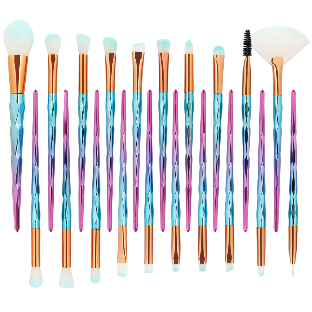Image 5 - MAANGE 20Pcs Diamond Makeup Brushes Set Powder Foundation Blush Blending Eye shadow Lip Cosmetic Beauty Make Up Brush Tool Kit-in Eye Shadow Applicator from Beauty & Health