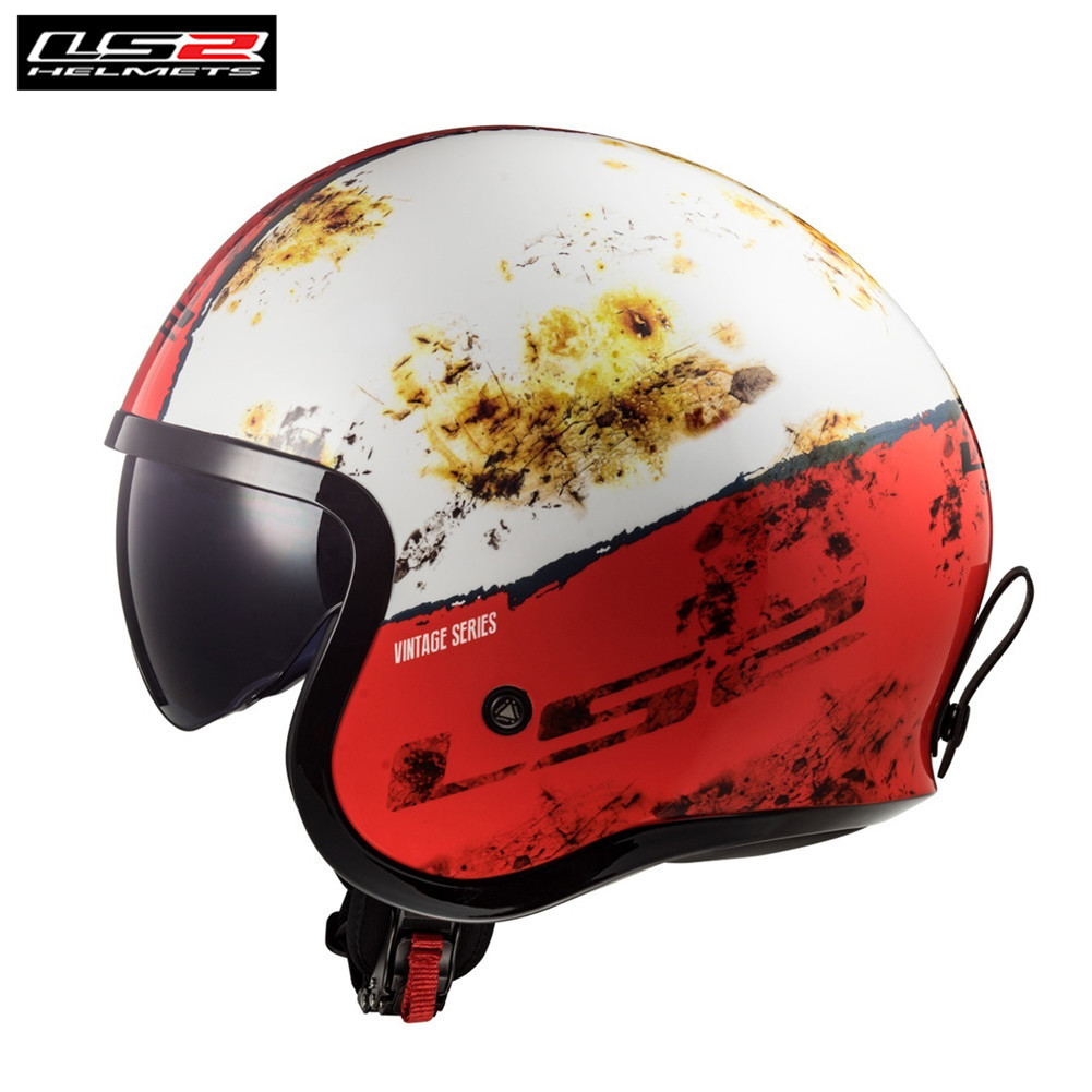 Ls2 spitfire of599 jet capacete da motocicleta 3/4 cruiser touring scooter casco moto casque kask capas de moto